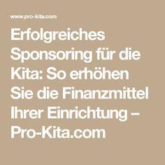 Erfolgreiches Sponsoring für die Kita: So erhöhen Sie die Finanzmittel Ihrer Einrichtung – Pro-Kita.com