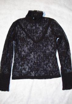 Blusa de renda preta H&M