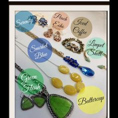 New spring colors Add these colors to your basic wardrobe to add a little oomph to your outfit. Accessories