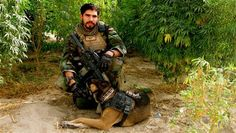 Christopher Diaz, pictured with Dino, his military dog. Parents of Diaz adopted the bomb-sniffing dog that was with their son on his final mission. Military Working Dogs, Military Dogs, Police Dogs, Military Police, Usmc, Camp Pendleton, Staff Sergeant, Belgian Malinois, Malinois Dog