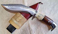 American Eagle Dragon Spine Khukuri Khukri Kukri Knife Bone N Wood Handle 6 inch