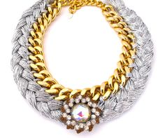 Stunning Braided Chain Necklace -Czarina-. $120.00, via Etsy.