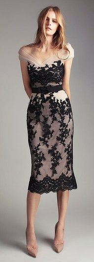What about this for the rehearsal dinner? I feel the lace is a romantic vintage feel...and the black is an evening twist...