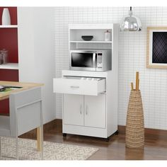 Shop for Inval Microwave Cart with Storage. Get free delivery at Overstock.com - Your Online Kitchen