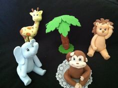 Baby Jungle Cake Toppers. Baby Lion Shower by Littledivasboutiques, $55.99
