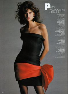 ☆ Linda Evangelista | Photography by Hans Feurer | For Vogue Magazine 1987