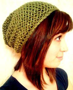 PDF Basic Slouchy Beanie Crochet PATTERN by SewMuchLovePatterns, $3.99