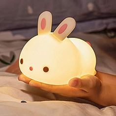 Led Nursery Night Light for Kids, Portable Soft Silicone Bunny Kids Night Light, Rechargeable Color Changing Lamp Animal Toddler Nighlights for Children Adults Bedroom - - Amazon.com Toddler Night Light, Nursery Night Light, Cute Room Ideas, Cute Room Decor, Bunny Lamp, Cute Night Lights, Ac New Leaf, Kawaii Plush, Kawaii Room