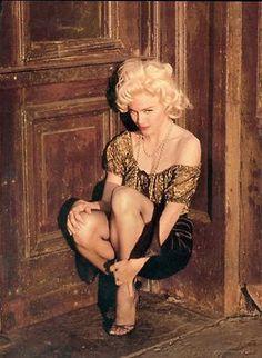 "Marilyn Monroe photographed by Milton H. Greene, ""Hooker"" Sitting, 1956."
