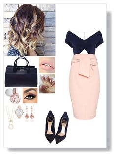 """""""Untitled #483"""" by mantyz ❤ liked on Polyvore featuring Roland Mouret, Topshop, Christian Dior, Chanel, Jouer, tarte, Kate Spade and Olivia Burton"""
