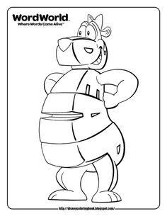 Word world | word world bear coloring pages