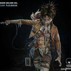 ArtStation - 進擊的巨人_兵長_里維阿克曼/Attack on Titan_Levi Ackerman, violic chen 2d Character, Character Modeling, 3d Modeling, Levi Ackerman, Chen, Fantasy Wizard, Digital Sculpting, Attack On Titan Levi, Cg Art