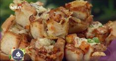 Φωλίτσες με ψωμί του τοστ Potato Salad, Shrimp, Potatoes, Meat, Ethnic Recipes, Food, Beef, Potato, Meals