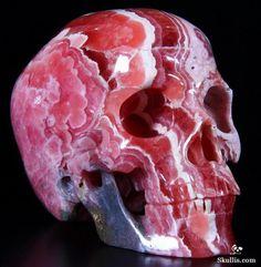 Rhodochrocite Skull  origin: Argentina Gems at the corner: Photo