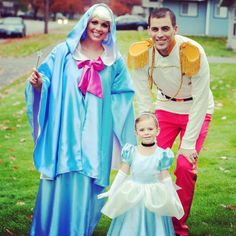 Fairy Godmother, Handsome Prince and Cinderella. Family costumes rock! Happy Halloween!