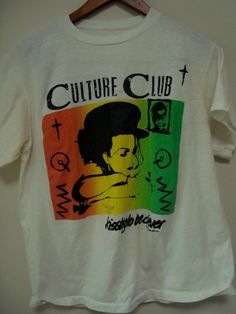 Culture Club Boy George Kissing to be Clever vintage concert t-shirt