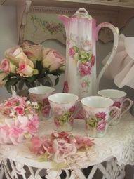 Tea:  Roses and tea/chocolate set.