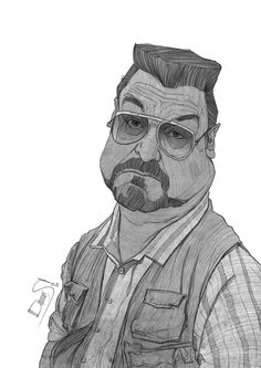 Walter - The Big Lebowski Tribute Sketches by Stavros Damos, via Behance