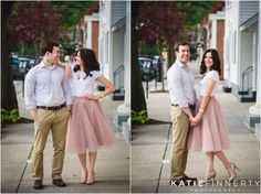 I LOVE the outfits this bride and groom to be chose to wear to their Geneseo Engagement Session. Photos by Rochester Wedding Photographer Katie Finnerty Photography | http://www.katiefinnertyphotography.com/blog/2015.7.2.geneseo-engagement-session-rachel-rich