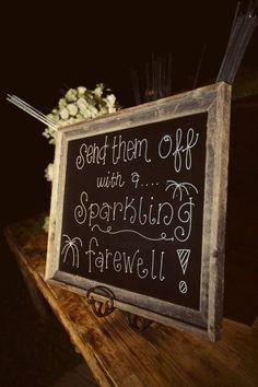 Wedding Sparkler Signs   Wedding Ideas / Love the sparkler exit sign!