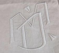 Beautiful monogram on this 11 foot long antique sheet