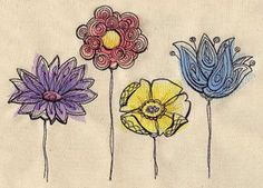 """Painted Flowers 