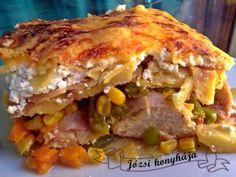 Rakott csirkemell | Józsi konyhája Bacon, Food And Drink, Fitt, Ethnic Recipes, Kitchen, Gardening, Lasagna, Cooking, Kitchens