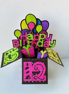 Carol's Creations: Happy Birthday Pop Up Box Card