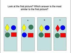A sample GATE test prep question a Kindergarten or first grade ...