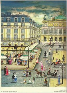 Amazon.com : Place De L'opera, Paris By Bin Kashiwa : Everything Else
