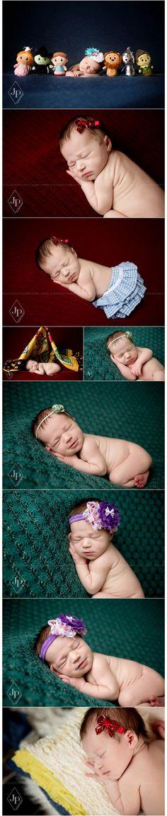 Newborn Photography by Julie Pottorff | Southern Illinois Newborn Photographer | Wizard of Oz newborn picture ideas | Newborn girl posing | www.juliepottorff.com