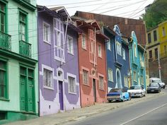 Colourful facades, Valparaiso, Chile by franciscogualtieri. End Of The World, Travel Around The World, Around The Worlds, The Beautiful Country, Beautiful Places, Torres Del Paine National Park, Easter Island, World Of Color, Adventure Is Out There