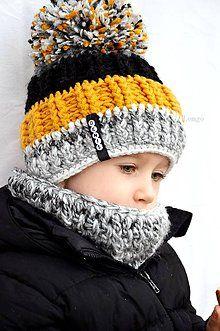 Detské súpravy - Boys súprava s menom oker&black - 6137863_