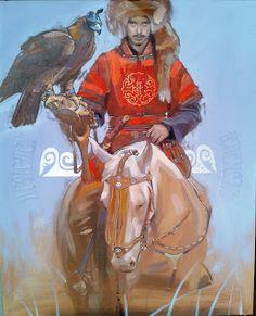 Gallery of Works Mongolia, Bird People, The Legend Of Heroes, Japanese Warrior, Iranian Art, Russian Art, Horse Art, Native American Art, Islamic Art