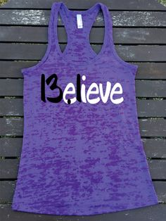 Believe 13.1 Half Marathon Running  Burnout Racerback Athletic Fit TankTop  Super Comfy  Gift Unique Best  Great Tank Top by SuperTeesandHats on Etsy
