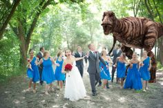 Epic wedding photo.