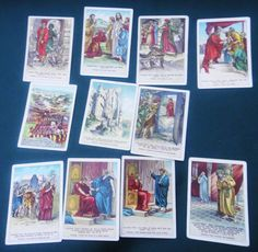 Lot 1896 Antique 11 Sunday School Little People Picture Card Bible