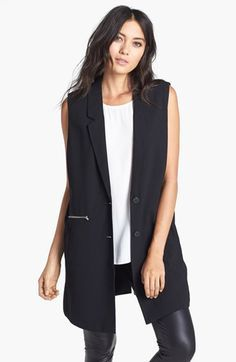 long black vest outfit - Google Search