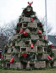 Unusual Christmas Trees - lobster traps