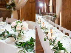 Top table | foliage | candles | floral arrangement | metallic & mercury vases candlesticks |  maisonmeredith photography