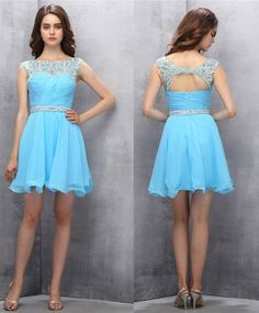 Chiffon Homecoming Dresses,Sweetheart dress.Short Homecoming Dresses,Cute Homecoming Dresses,Blue Prom Gown,Short Prom Dresses