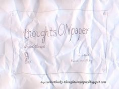 ΑΣΠΡΟ~ΜΑΥΡΟ: σκέψειςΣΤΟχαρτί ~ thoughtsONpaper