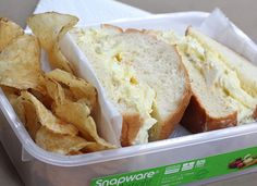 Egg Salad Supreme from Emeril's Kicked-Up Sandwiches via - Egg Salad Sandwiches, Sandwiches For Lunch, Love Food, A Food, Food And Drink, Salad Sauce, Looks Yummy, Southern Recipes, Dinner Recipes