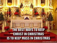 Keep Mass in Christmas