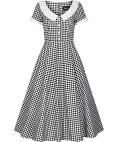 Madeline Gingham Swing Dress Collectif Mainline Clothes Dresses, Pink Ladies, Dress to Impress, DRESS TO IMPRESS, Spring Favourites @ Collectif and Vintage Style Clothing and Rockabilly Collection Vintage Looking Dresses, Vintage Style Dresses, Dress Vintage, Gingham Dress, White Dress, Day Dresses, Dress Outfits, Tent Dress, Swing Skirt