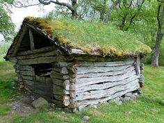"""""""picturesque hut with its sod roof"""" by TravelPod blogger friesendm from the entry """"Briksdal Glacier Walk"""" on Wednesday, June 13, 2012 in Loen, Norway"""