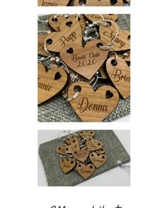 "Ellie & Hart: Products & Gifts on Instagram: ""Glass Charms / Drink Charms⁠ ⁠ Our wood veneer glass charms make a beautiful wedding favour or place name setting. Each one can be…"""