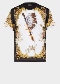 Native Americans Tribute T-shirt - Print The Versace Tribute Collection Gianni Versace, Versace Men, Native American Print, Designer Clothes For Men, My T Shirt, Shirt Print, Star Fashion, Men Fashion, Fashion Prints