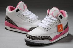 Air Jordan 3 Womens White Cement/Grey-Pink