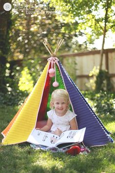 Perfect for taking a nap, reading a book, playing with toys or just snuggling–the Toddler Teepee is ideal for indoor or outside play. The sample is made in a rainbow of colors but you could make it in your little one's favorite colors or to match their bedroom or play space. Made with Red Heart ...